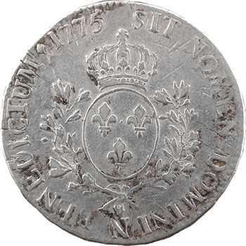 Louis XVI, écu aux branches d'olivier, 1775 Montpellier
