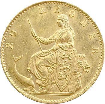 Danemark, Christian IX, 20 Kroner, 1890 Copenhague