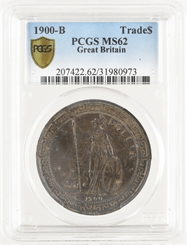 Royaume-Uni, Victoria, 1 dollar (trade token), 1900 Bombay, PCGS MS62