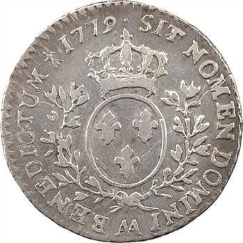 Louis XVI, dixième d'écu aux branches d'olivier, 1779 Metz