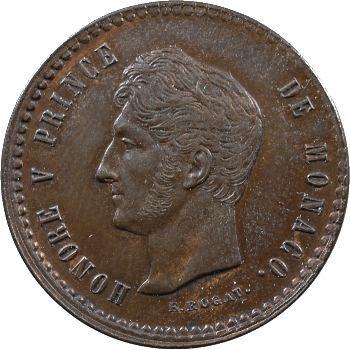 Monaco, Honoré V, essai de cinq centimes par Rogat, 1838