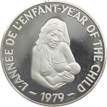 Nouvelles-Hébrides, 500 francs Année de l'enfant, 1979 Proof
