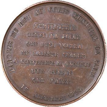 Charles X, paroles du Roi au corps municipal de Paris, 1824 Paris
