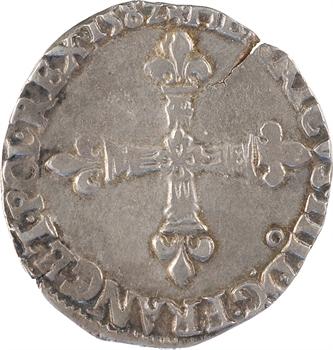 Henri III, quart d'écu croix de face, 1582 Rennes