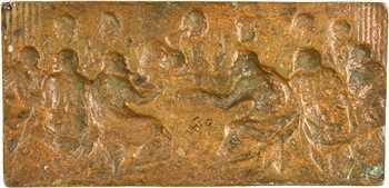 La Cène, plaquette, fonte uniface en bronze-doré, s.d. (XVIe s.)