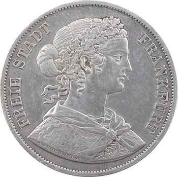 Allemagne, Francfort (ville de), double thaler, 1866 Francfort