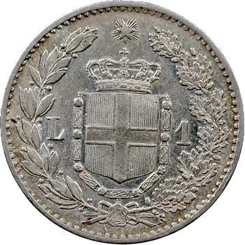Italie (royaume d'), Humbert Ier, 1 lire, 1886 Rome