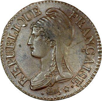 Directoire, cinq centimes Dupré, An 8/7 Lille
