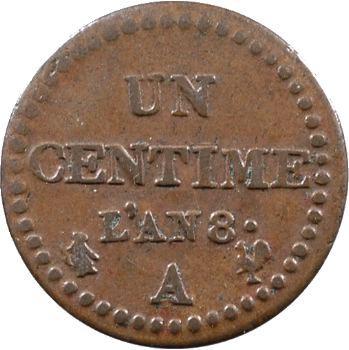 Directoire, un centime Dupré, An 8 Paris