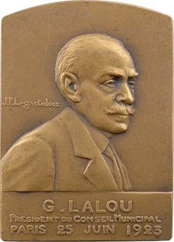 Legastelois (J.P.) : hommage à Georges Lalou, président du Conseil Municipal de Paris, 1924 Paris
