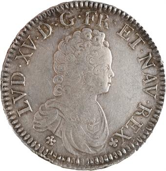 Louis XV, écu dit Vertugadin, 1718 Paris