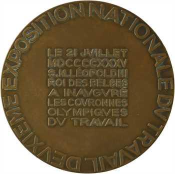 Belgique, Léopold II, deuxième exposition du travail, 1935 Bruxelles