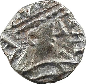 Frise continentale, sceat ou denier à la tête radiée, s.d. (700-715), sud du Bas-Rhin