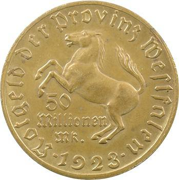 Allemagne, Westphalie (province de), 50 millions de mark, 1923