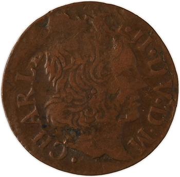Ardennes, Charleville (principauté de), Charles II de Gonzague, denier tournois 2e type, 1652 Charleville
