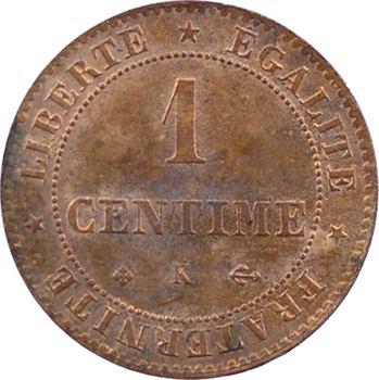 IIIe République, 1 centime Cérès, 1872 Bordeaux