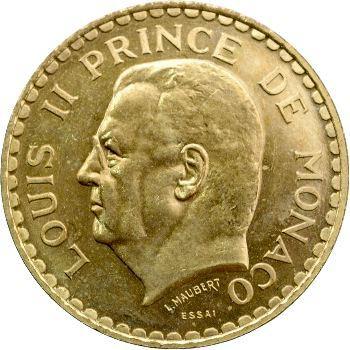 Monaco, Louis II, essai de 5 francs bronze-aluminium, 1945