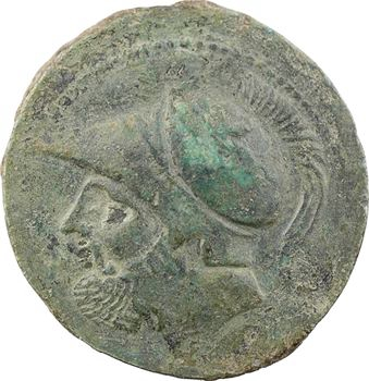 Bruttium, Ligue des Bruttiens, sextans en bronze, Bruttium (Bruzi), 214-211 av. J.-C.