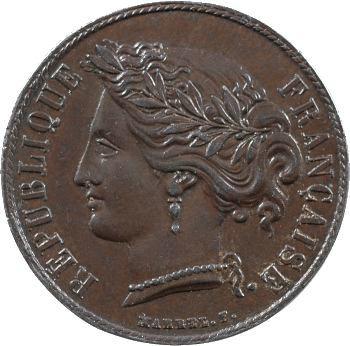 IIe République, essai de 10 centimes par Marrel, 1848 Paris