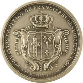 IVe République, fondation de Belloy de Francières, détournée en médaille de mariage, 1945 Paris
