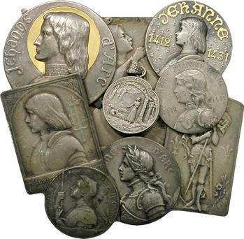 Jeanne d'Arc, Lot de 9 clichés unifaces, s.d. (fin XIXe-XXe s.)