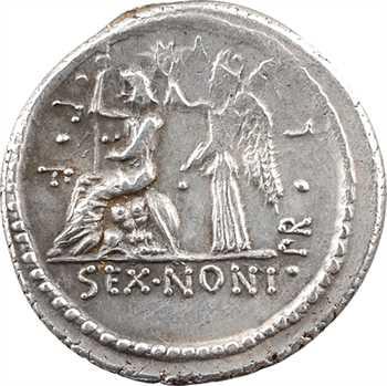 Nonia, denier, Rome, 59 av. J.-C.