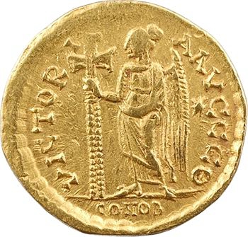 Zénon, solidus, Constantinople, 9e officine, 476-491