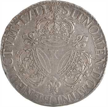 Louis XIV, écu aux trois couronnes, 1711 Amiens