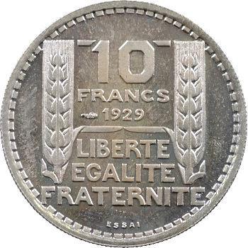 IIIe République, essai de 10 francs Turin hybride, moyen module, 1929/1939 Paris