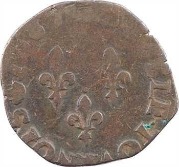 Henri III, double tournois, 1587 Troyes