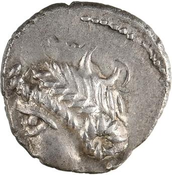 Éduens, denier classe V LVCIOS / LVCIOS, revers à l'S, c.Ier s. av. J.-C