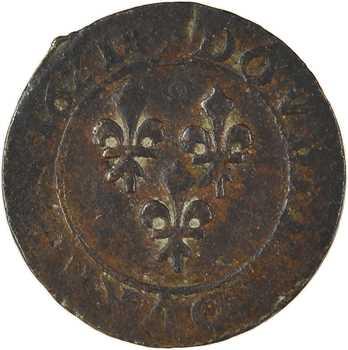 Louis XIII, double tournois 3e type, 1621 Villeneuve-lès-Avignon