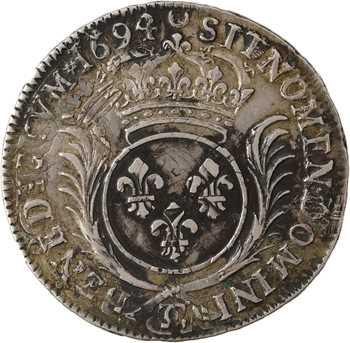 Louis XIV, demi-écu aux palmes, 1694 Besançon