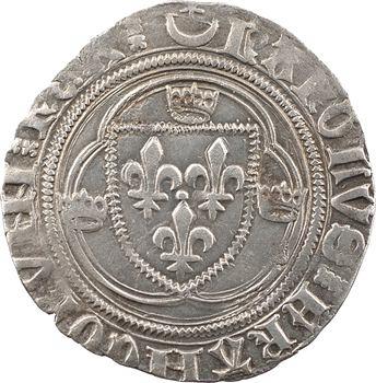 Charles VII, blanc à la couronne (étoile dans croissant), 1re émission, Châlons-en-Champagne