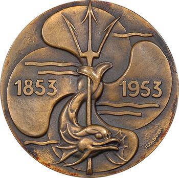 IVe République, centenaire de la Compagnie des Bateaux à vapeur du Nord, par Baron, 1853-1953