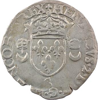 Henri II, douzain aux croissants, 1555 Troyes
