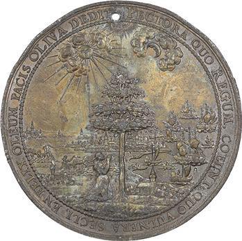 Pologne, le traité de paix d'Oliva, par Johann Höhn dem Älteren, 1660 Dantzig
