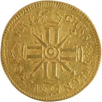 Louis XIV, louis d'or aux huit L et aux insignes, 1702 Caen
