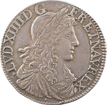 Louis XIV, demi-écu au buste juvénile, 1re effigie, 1661 Tours