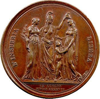 Italie, fondation de la République cisalpine, par Vassallo, 1797 Milan