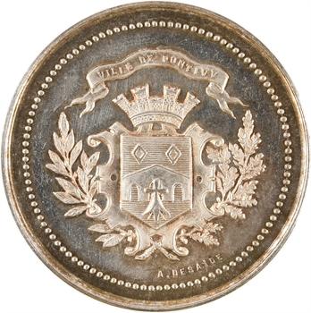 Caisse d'épargne de Pontivy (Morbihan), jeton en argent, 1837 Paris