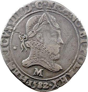 Henri III, franc au col fraisé, 1582 Toulouse