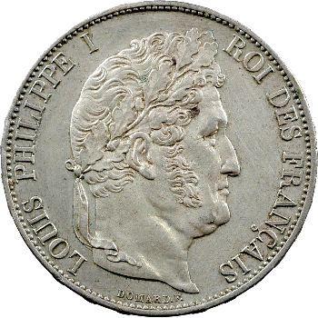 Louis-Philippe Ier, 5 francs IIIe type Domard, 1846 Paris