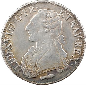 Louis XVI, écu aux branches d'olivier, 1787 Perpignan