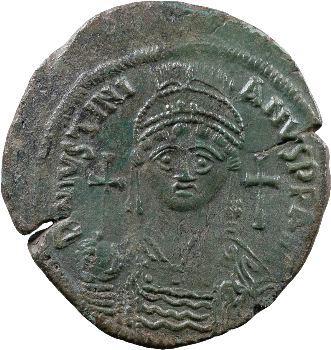Justinien Ier, follis, Constantinople, 538-539