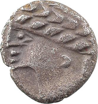 Allobroges, denier au profil stylisé, IIe-Ier s. av. J.-C.