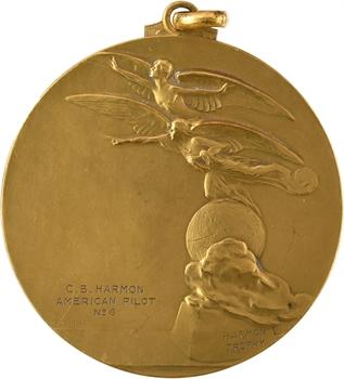 Aviation : la Ligue internationale des aviateurs, à Paul Codos (lauréat du trophée français), par Devreese, 1933