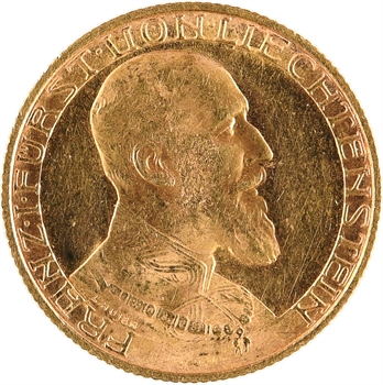 Liechtenstein (principauté du), François Ier, 10 francs, 1930