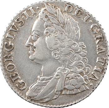 Grande-Bretagne, Georges II, shilling, 1758 Londres