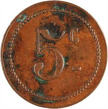 Algérie, Constantine, Souk-Ahras, cantine Vaccaro, 5 centimes, s.d